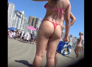 Pretty girls in thongs