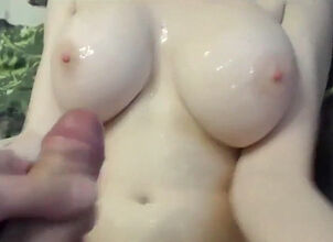 Cum on young tits