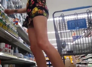 Girl naked in store
